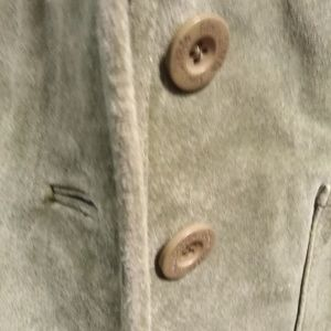 A. M. I  ARM GREEN SUEDE JACKET SIZE M